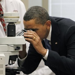 President Obama at the National Institute of Health. (AP Photo/Gerald Herbert)