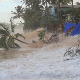 Coastal Oahu North Shore home at risk