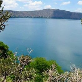 Lake Challa on the border of Kenya and Tanzania
