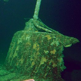 The conning tower of the mini submarine sunk by the USS Ward. Photo: University of Hawaiʻi/HURL