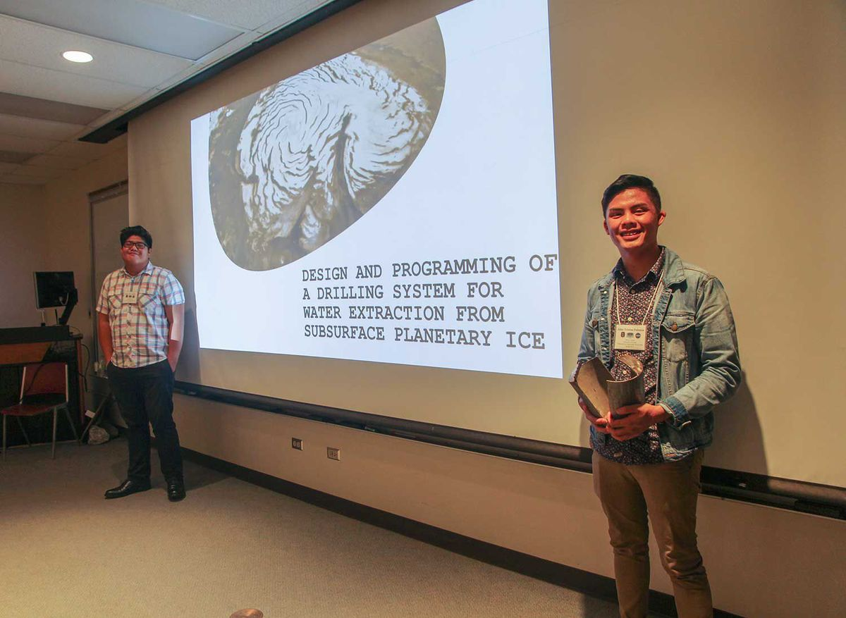 University of Guam students Allen Jake Aromin (left) and John Tristan Palanca (right)