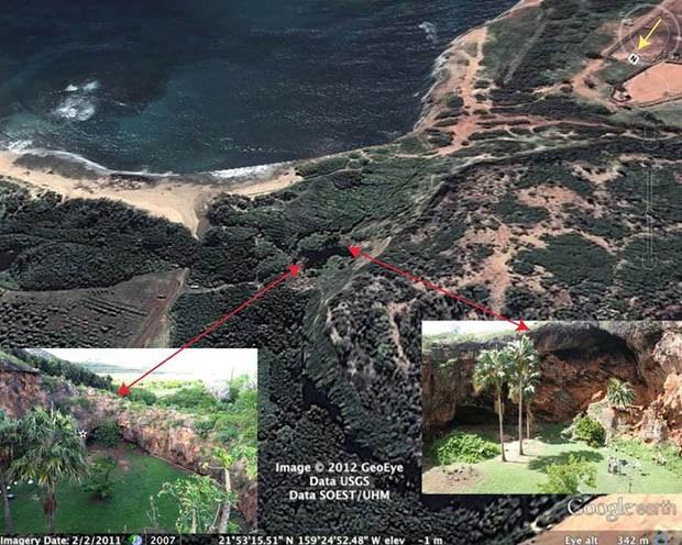 Makauwahi sinkhole on Kaua'i.