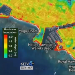 Computer model of inundation of Waikiki