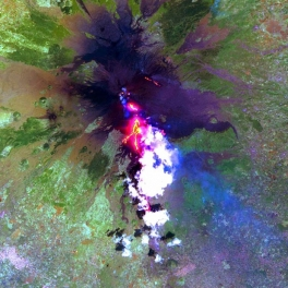 Image Mt. Etna from space.