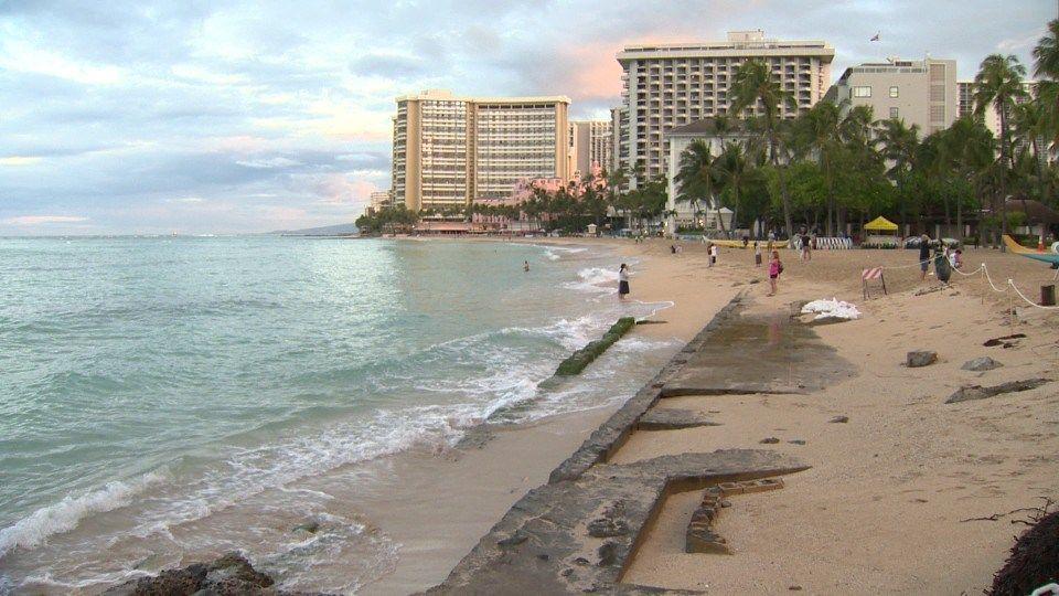 Waikiki beach erosion image