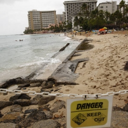 Image of erosion of Waikiki Beach