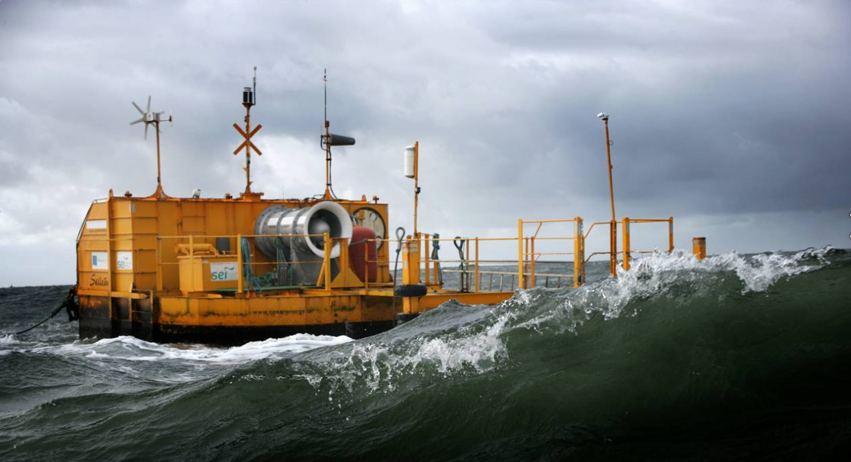 A smaller prototype tested in Galway Bay, Ireland. Credit: Ocean Energy