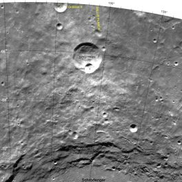 NASA image of Hawke lunar crater