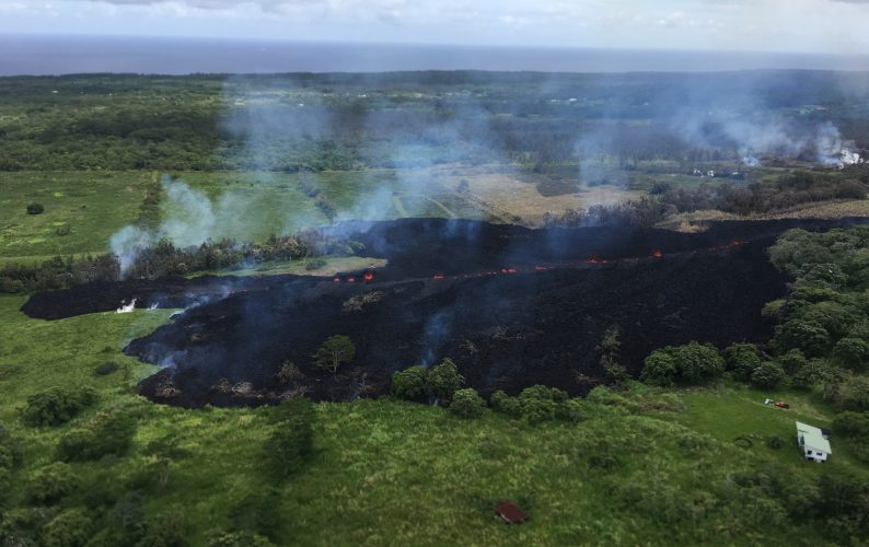 Leilani Estates eruption. View of Fissure 17.