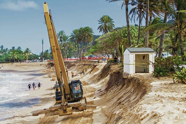 Image of beach erosion on O'ahu