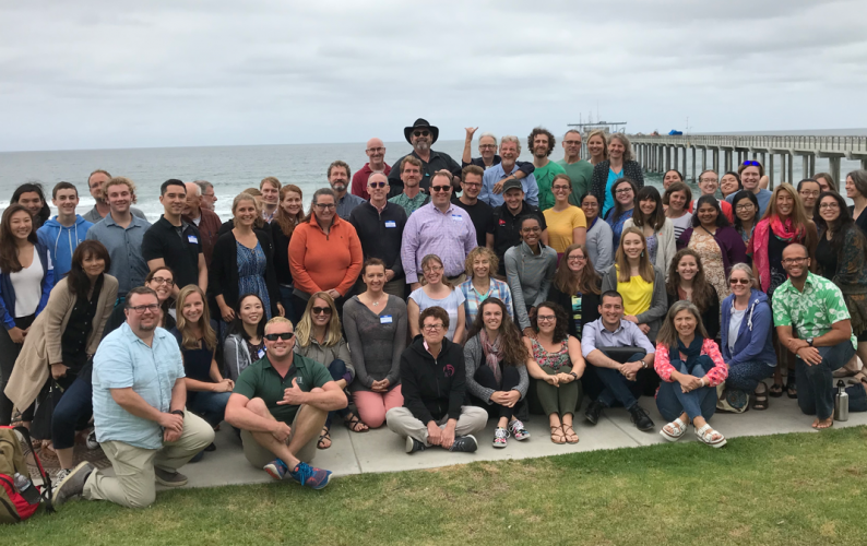 "Squid – Vibrio System 30th anniversary at Scripps Institution of Oceanography, a gathering of the ""academic family."""