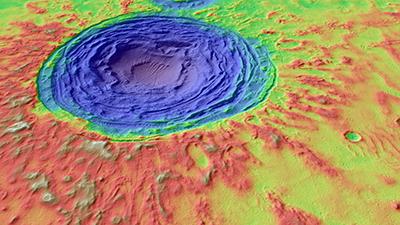 Hrad Vallis on Mars. Credit: NASA