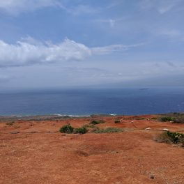 Kaho'olawe with Maui visible in the distance. Credit: Harrison Togia.