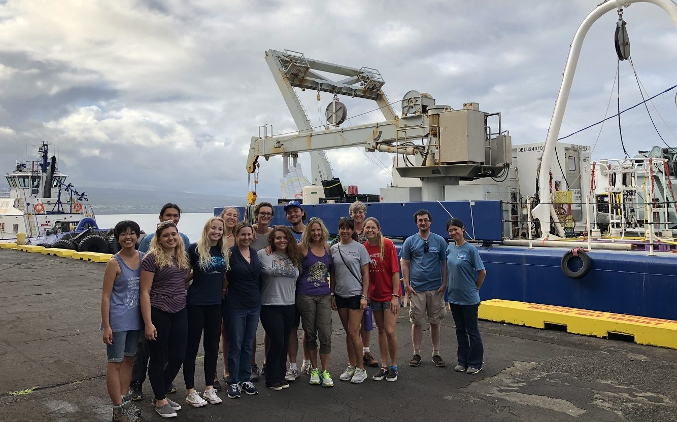 Mariko Hatta, who led many group tours, and UH Hilo students. Credit: Alex Fox, GEOTRACES.