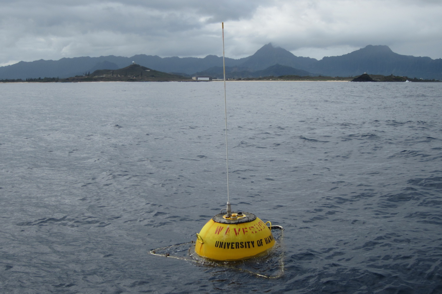 University of Hawaii wave measurement buoy at the Navy's Wave Energy Test Site off Marine Corps Base Hawaii