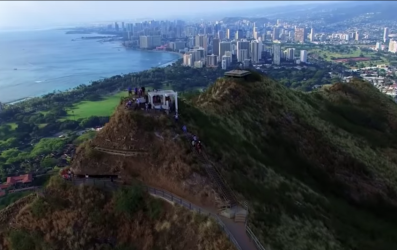 Waikiki from above Diamond Head. Credit: UH News