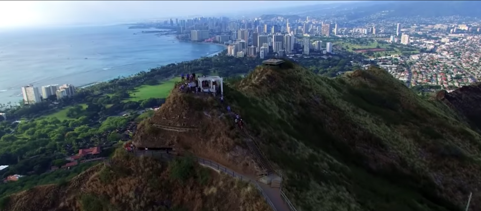 Waikiki from above Diamond Head. Credit: UH News