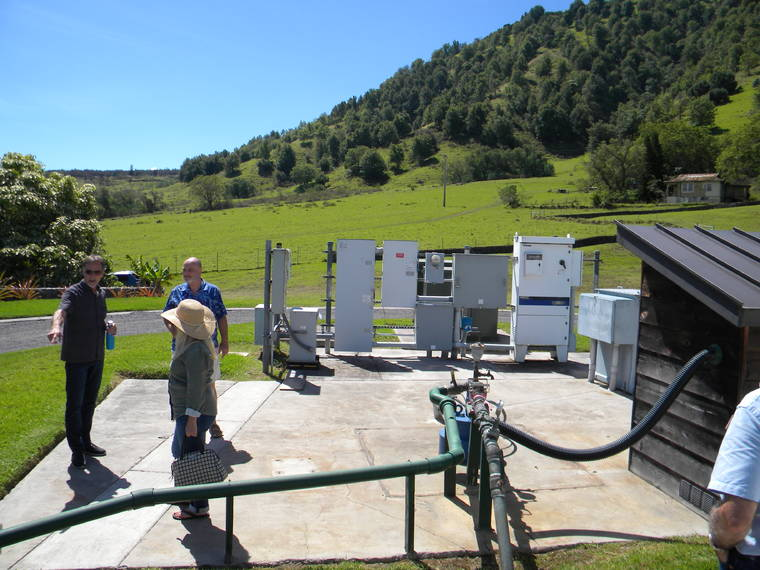 Image of community water system on the Puu Waawaa energy ranch