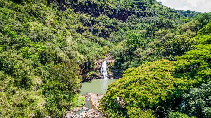 Photo of Waimea Valley on the island of O'ahu