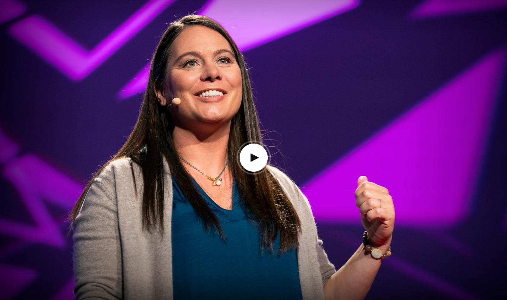 Angelicque White on stage delivering her TED Talk in November 2019