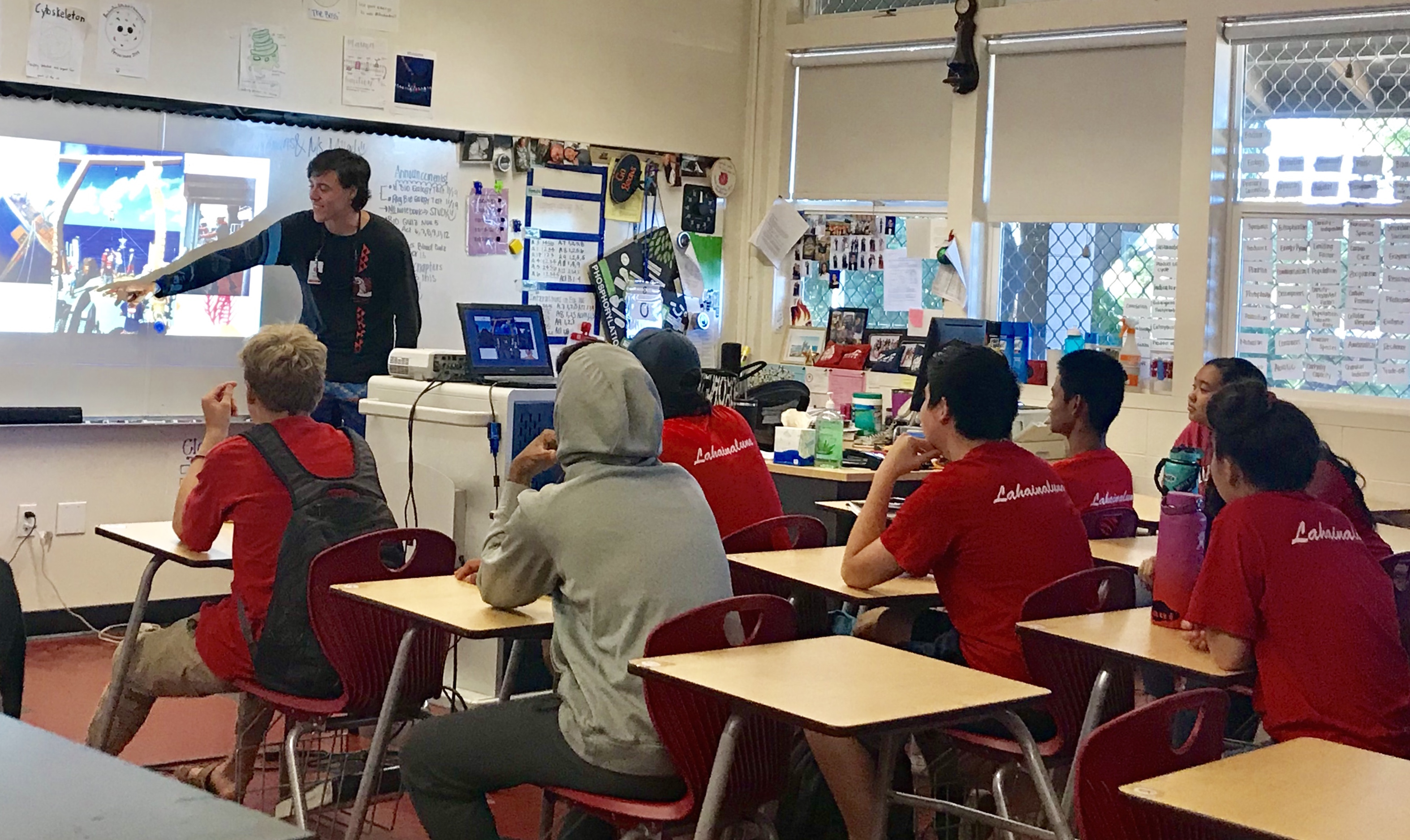 Noah Howins at Lahainaluna High School.