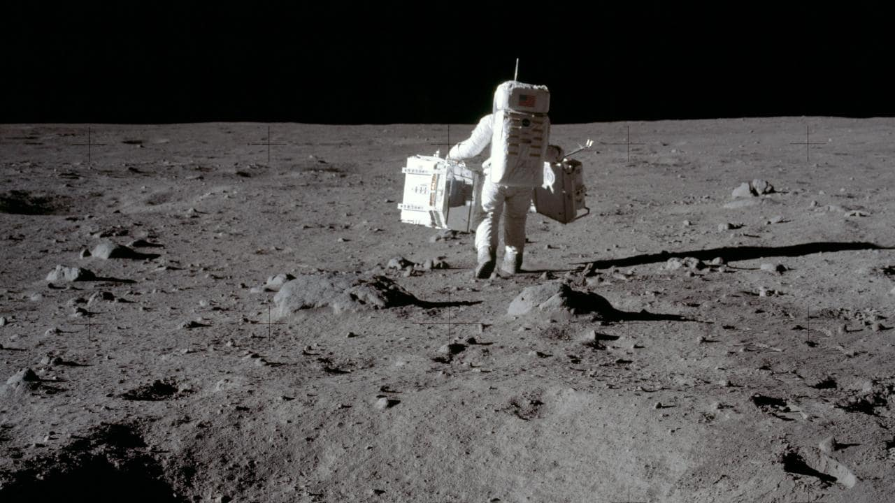 image of astronaut, Apollo 11. Credit: NASA.