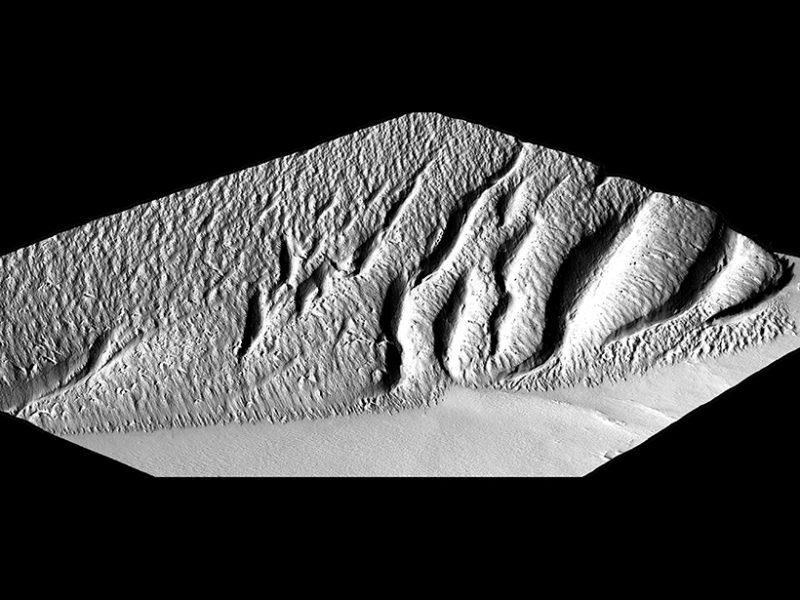3-d rendering of Medusae Fossae, Mars