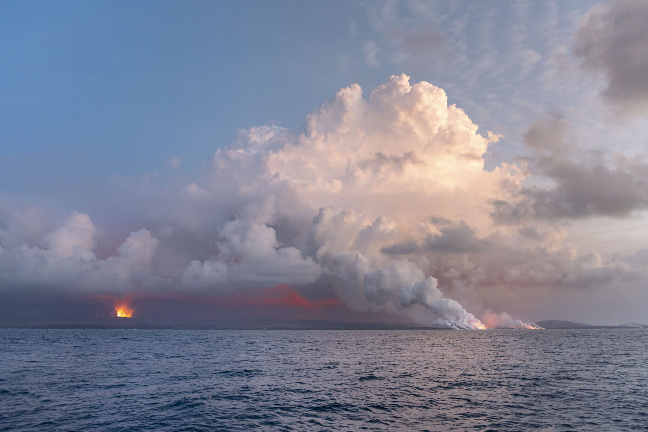 July 2018 Kilauea east rift zone eruption produced vog.