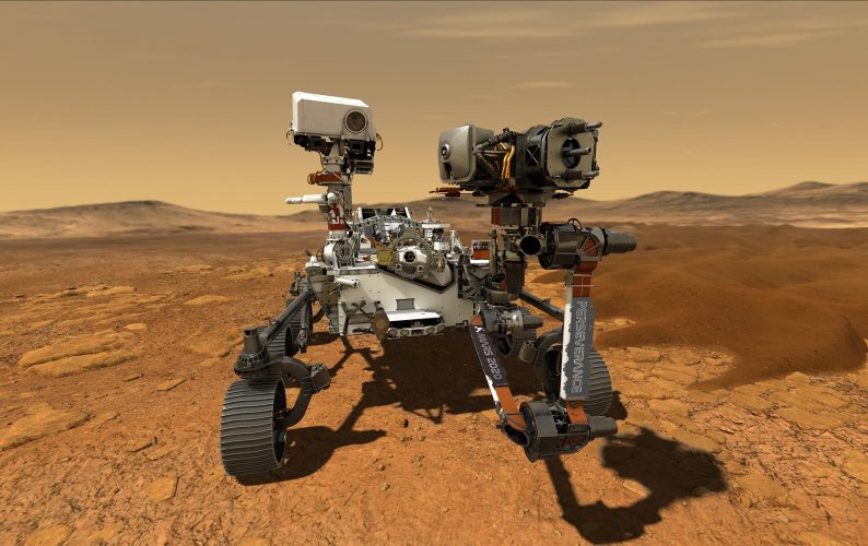 Illustration depicts NASA's Perseverance rover operating on the surface of Mars. Credit: NASA/JPL-Caltech