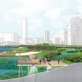 Artist's rendering of living shoreline development project